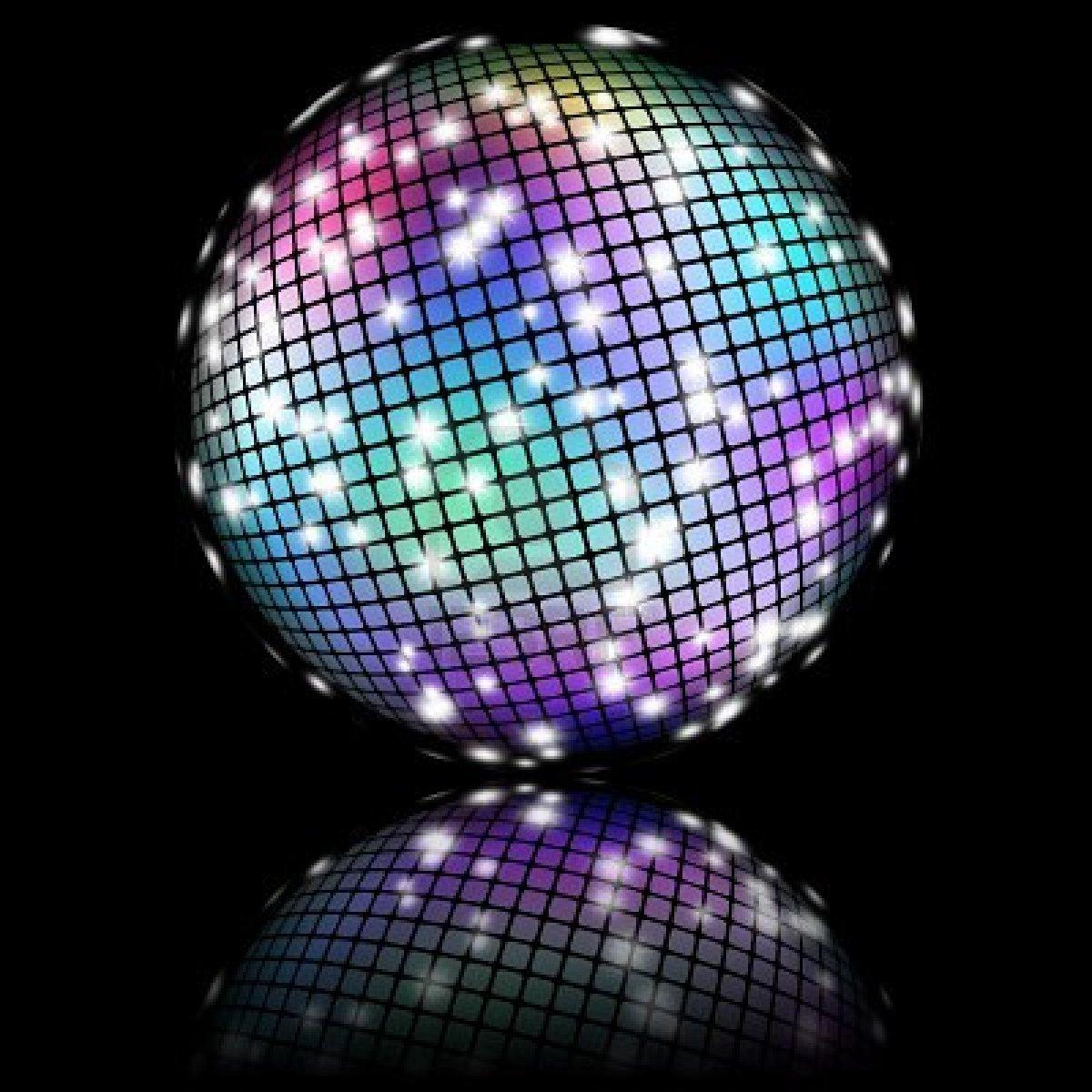 La buena musica - Bola de discoteca de colores ...