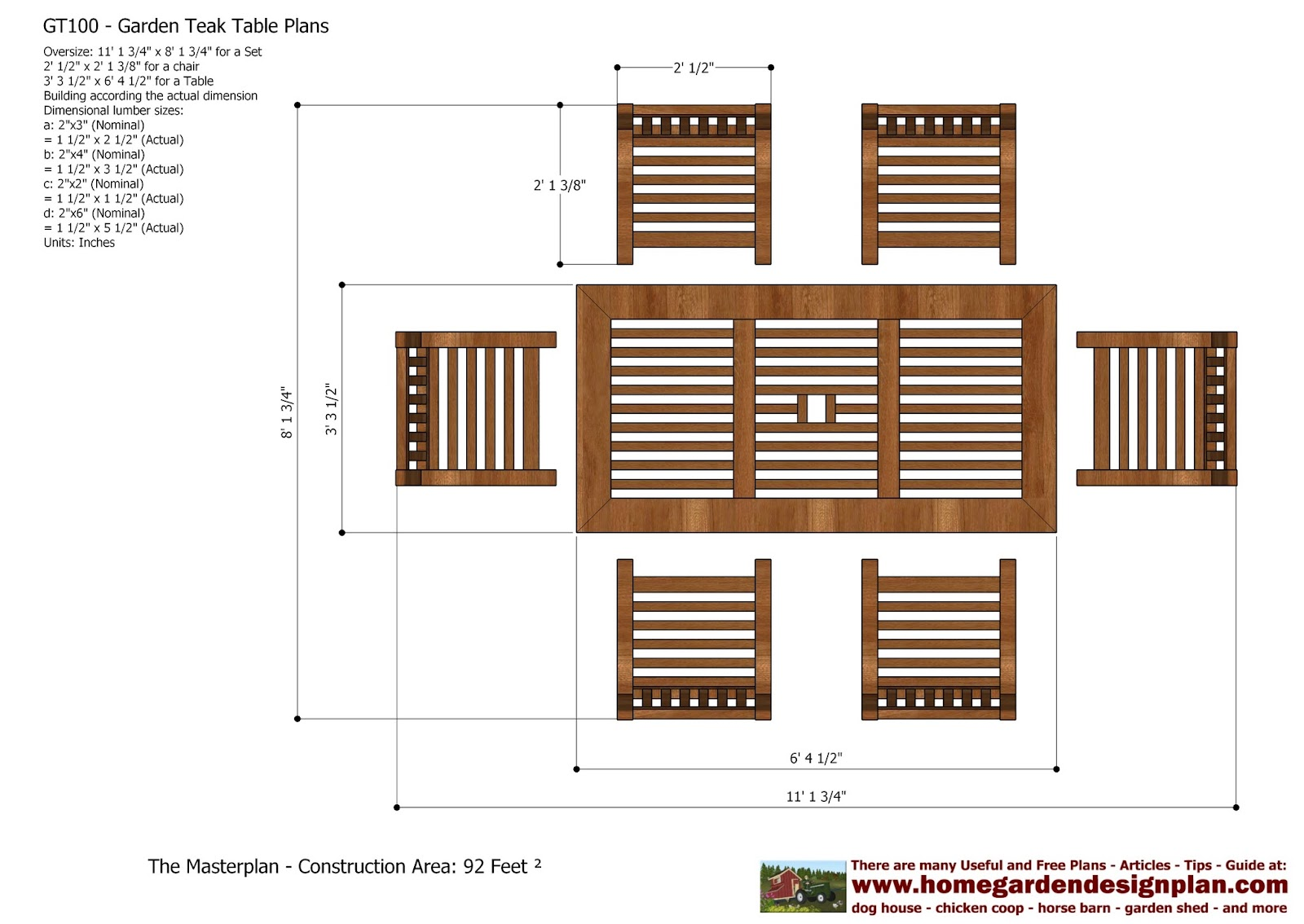 Garden Furniture Plans home garden plans: gt100 - garden teak tables - woodworking plans