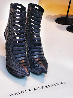 Haider Ackermann Woven Platform Ankle Boot