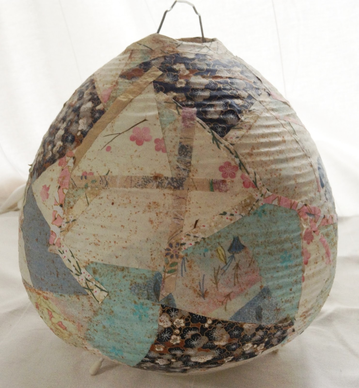 Design stockholm diy japanese paper mach lamp shade for Papier mache lanterns