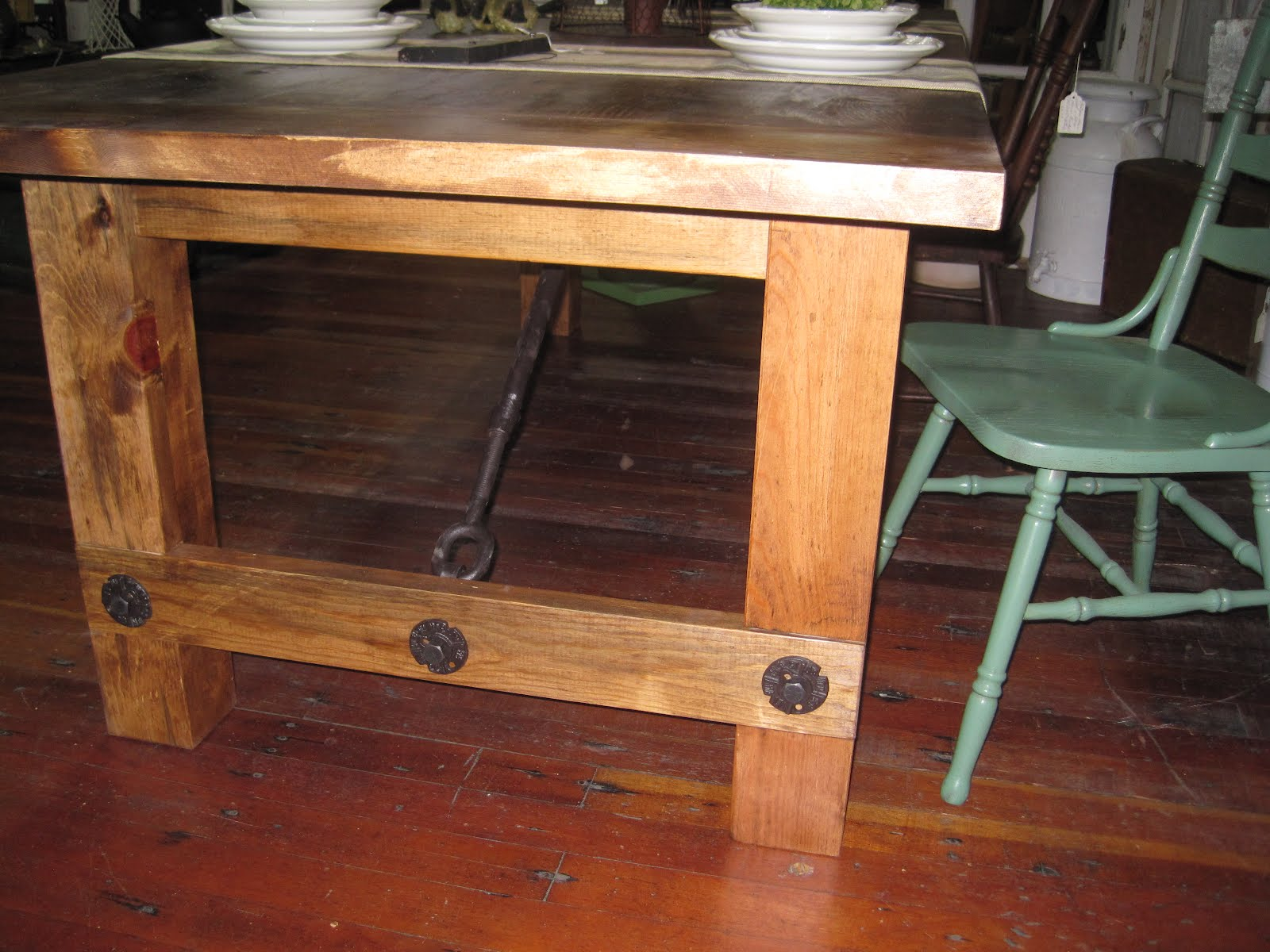 The Industrial Rustic Look Truly Adds Such Special Detail To The Table. To  Complete This Table In Style, Matching Handcrafted Benches Are In The Works.