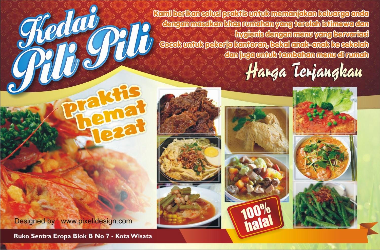 Contoh Brosur Makanan / Restaurant - Desain dan Contoh
