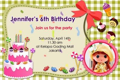 Desain kartu undangan ulang tahun anak lucu banget