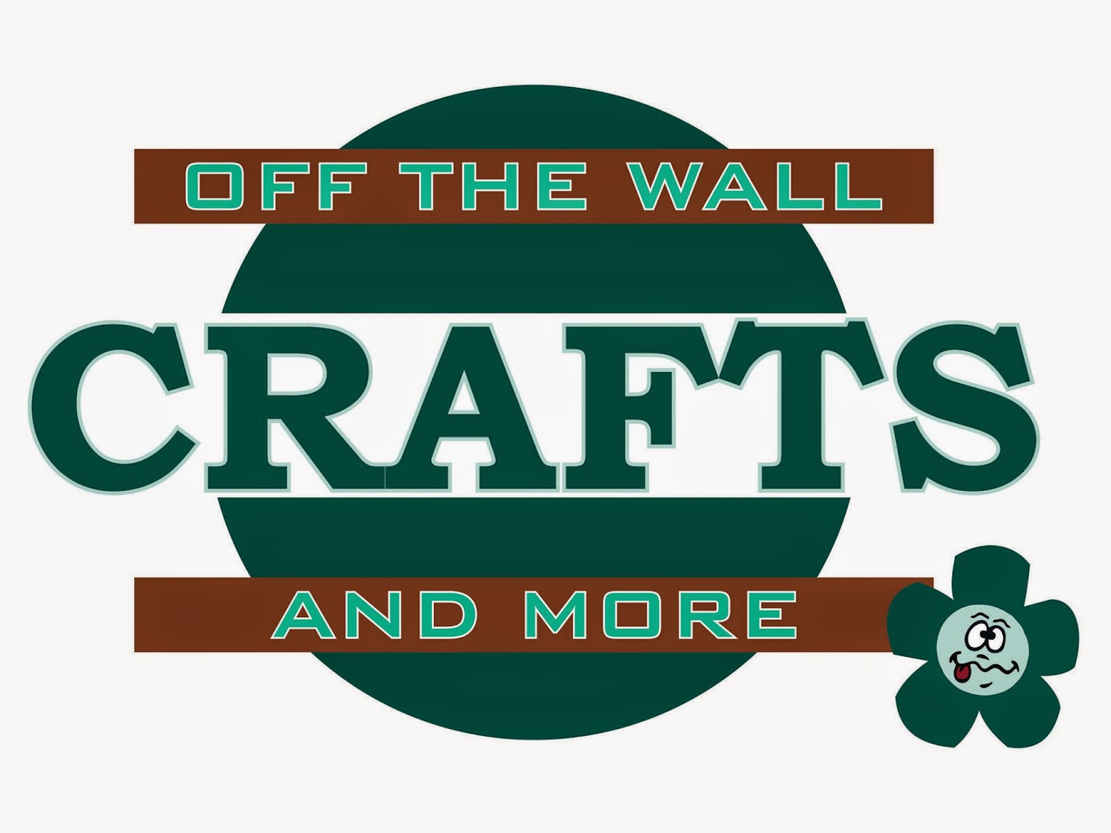 Kirkfield Kawartha Lakes Store Off the Wall Crafts and More Logo in green and brown with crazy daisy