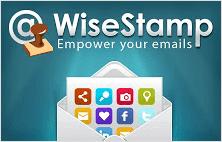 Wisestamp extension for Google Chrome