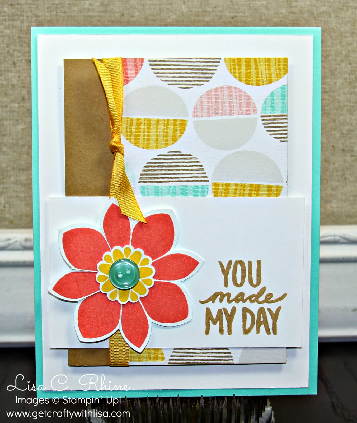 Get crafty with lisa january 2015 for this you made my day card i used the petal potpourri stamp set exclusive sale a bration best ever suite of products best day ever stamp set kristyandbryce Choice Image