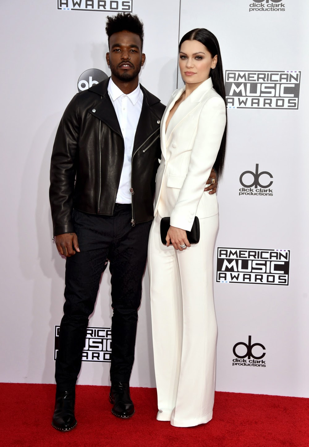 Jessie J & her Boyfriend - 2014 American Music Awards - Red Carpet