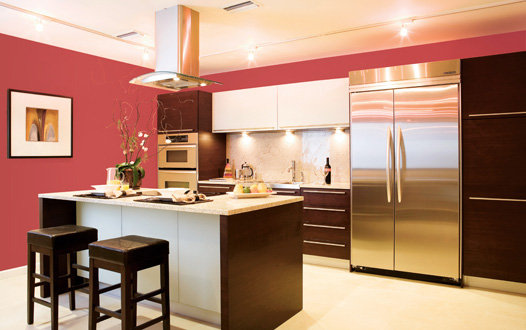 kitchen with coral colors idea will truly makes your modern kitchen