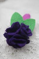 Haarknipje bloem vilt