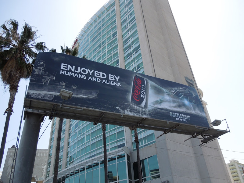Coke Zero Battleship billboard