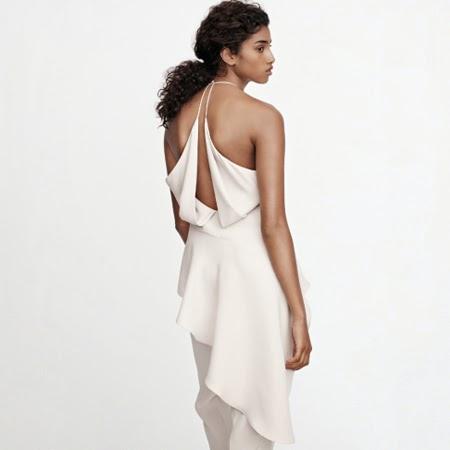 vestido blanco H&M colección Conscious Exclusive