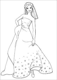 a desenhar vestidos  colorir