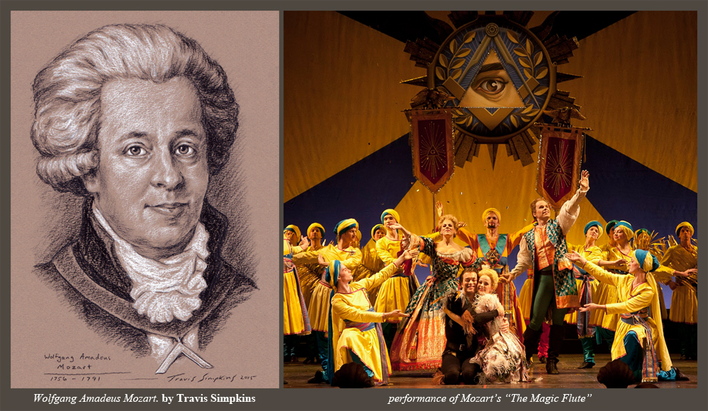 Travis Simpkins Wolfgang Amadeus Mozart Freemason And Composer Of