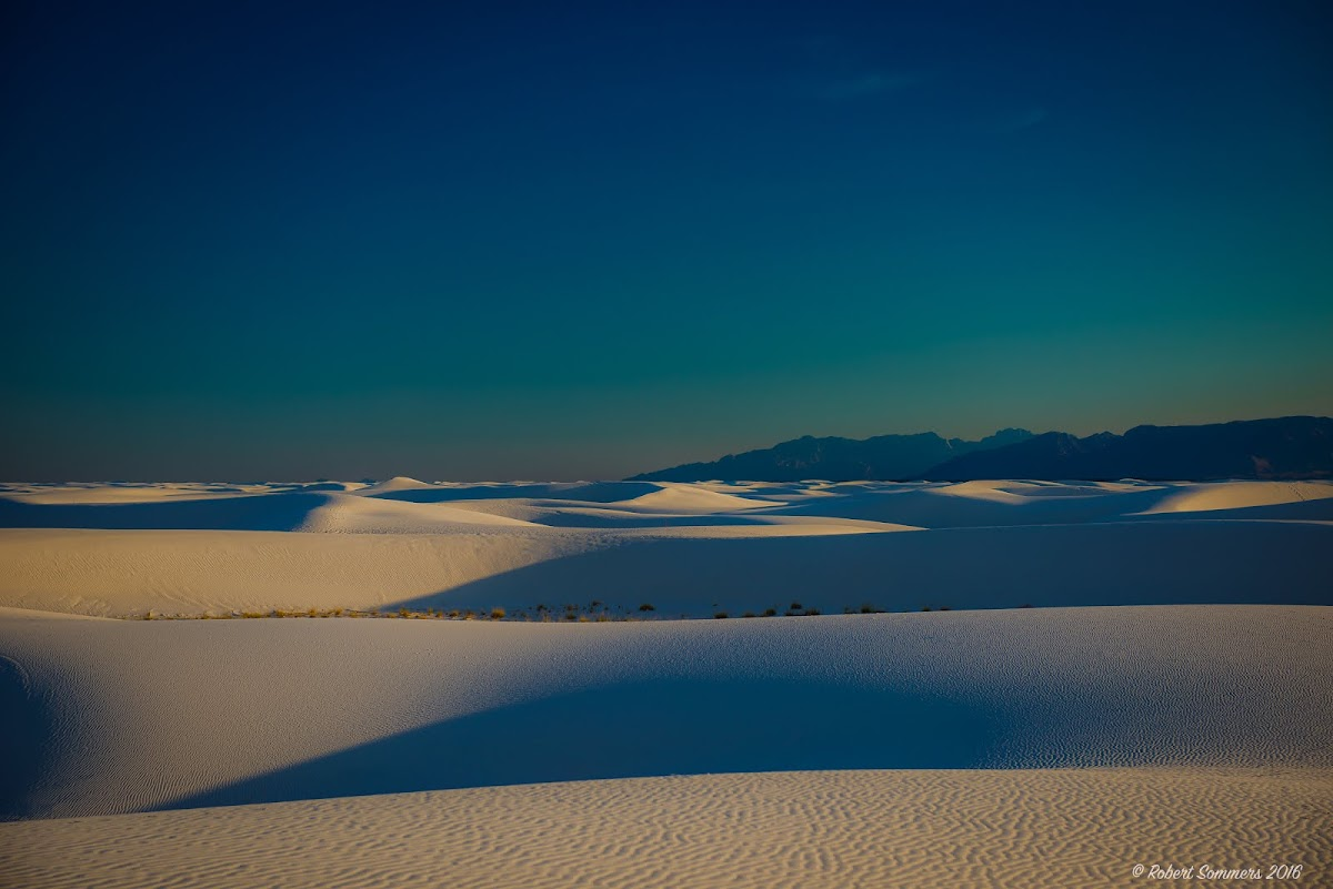 Evening shadowplay - White Sands
