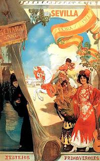 Cartel Fiestas de Primavera Sevilla 1913 - Gonzalo Bilbao