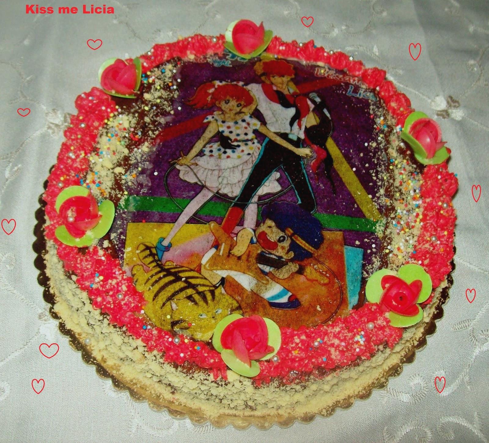Accademia di elisa torta kiss me licia