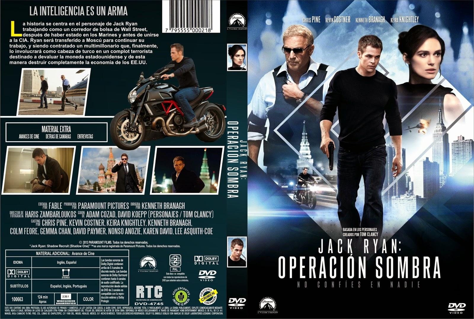 Jack Ryan Operación Sombra DVD