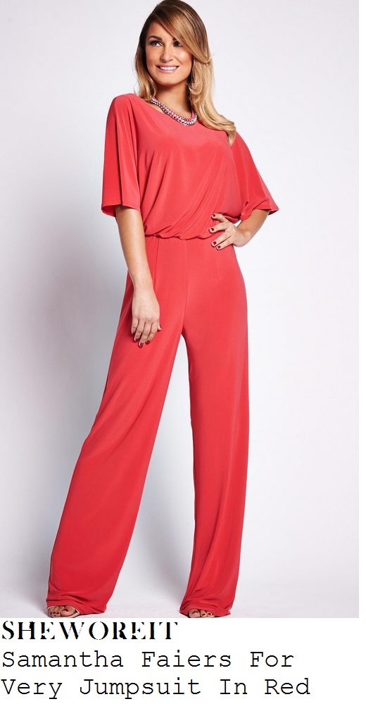 sam-faiers-red-half-sleeve-drape-high-waisted-jumpsuit-centrepoint-quiz