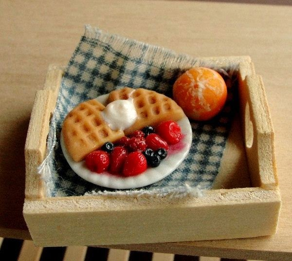 Cute Mininature food sculptures by fairchildart