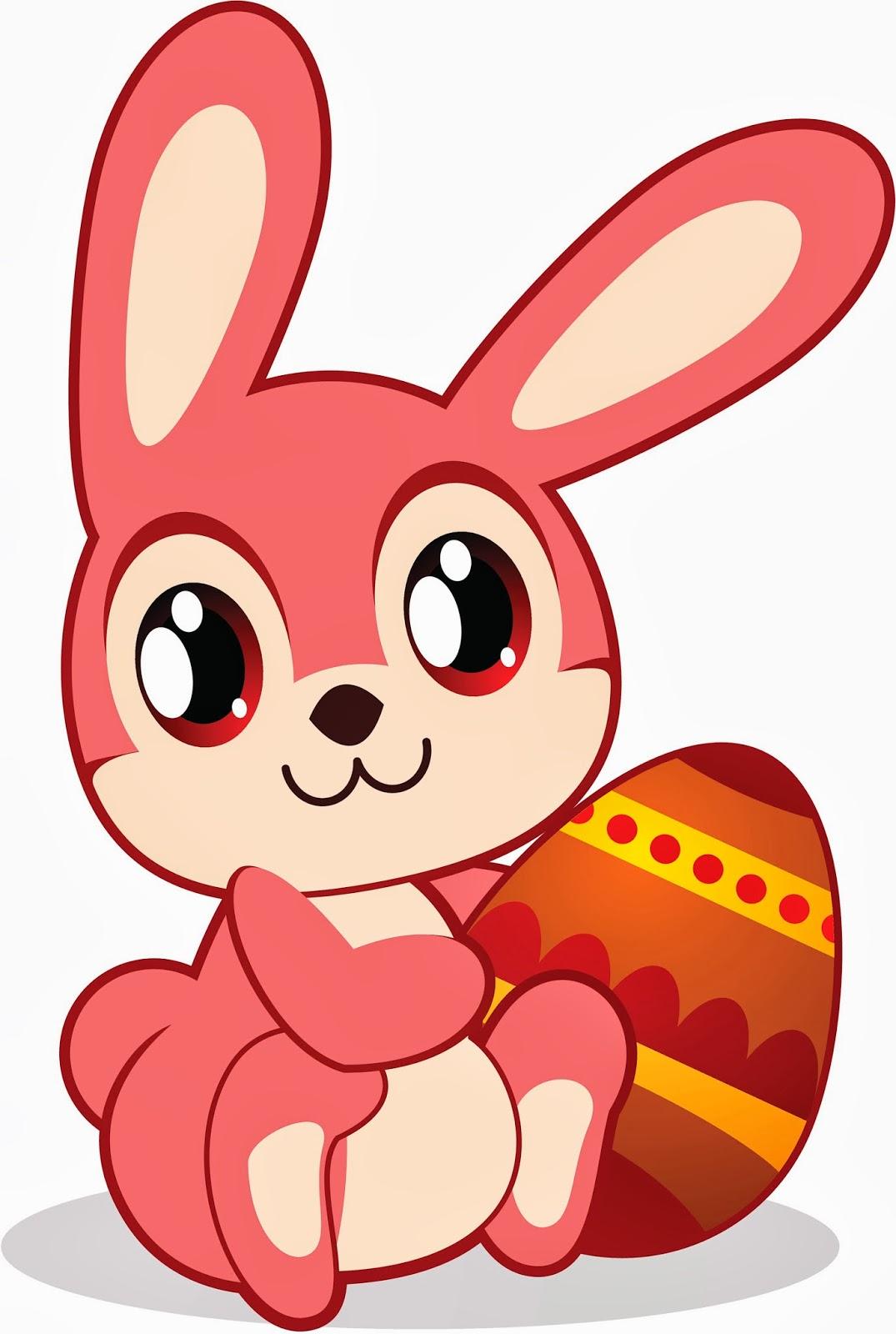 Imagenes Tiernas de Amor: Dibujos de conejos de Pascua para niños