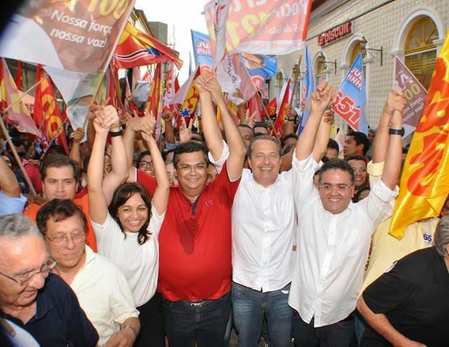 Flávio Dino, Eduardo Campos e Roberto Rocha