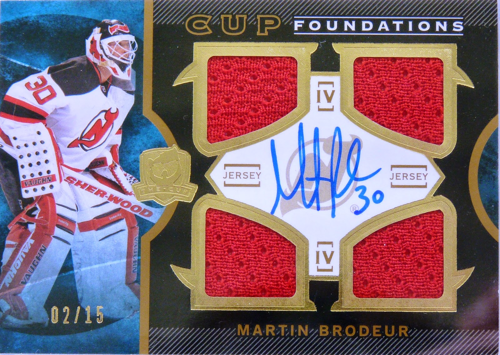 Wax Stain Rookie 13 14 The Cup Foundations Martin Brodeur Auto 15