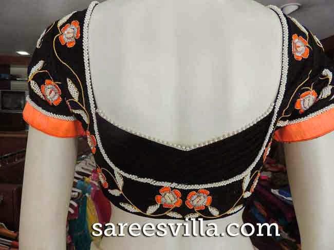Back Neck Blouse Design