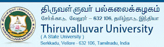 Thiruvalluvar University Nov - Dec 2012 Results