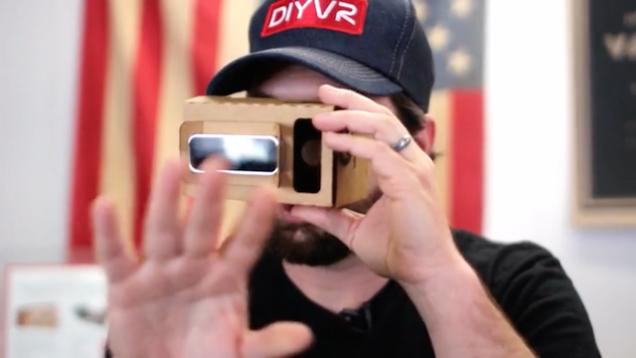 Casco de realidad virtual en cartón por 25 dólares
