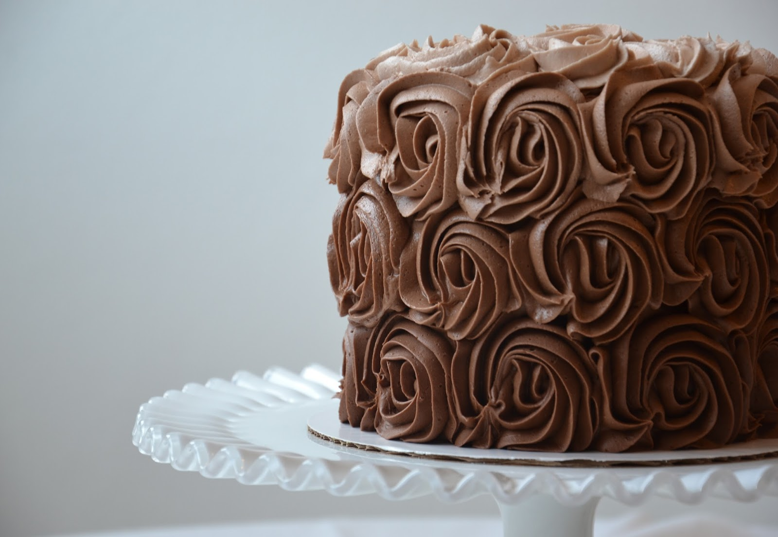 Cake Layered With Whipped Chocolate Frosting And Chocolate Ganache ...