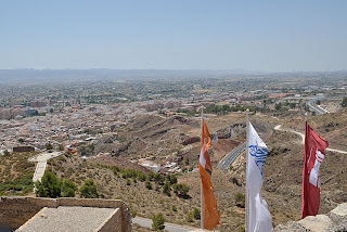 picture of the view of Lorca from the castle