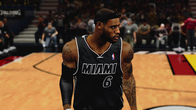 "NBA 2K13 Miami Heat ""Back in Black"" Jersey"