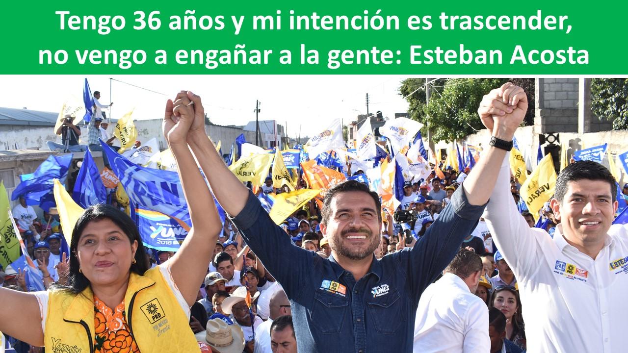 Tengo 36 años y mi intención es trascender, no vengo a engañar a la gente: Esteban Acosta