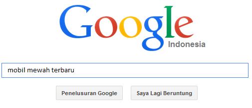 melakukan pencarian melebar pada google