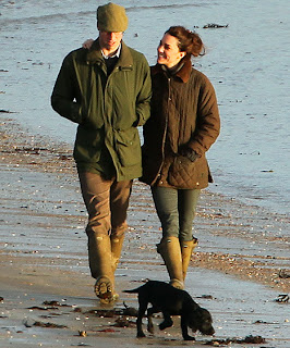 William and Kate new black cocker spaniel puppy