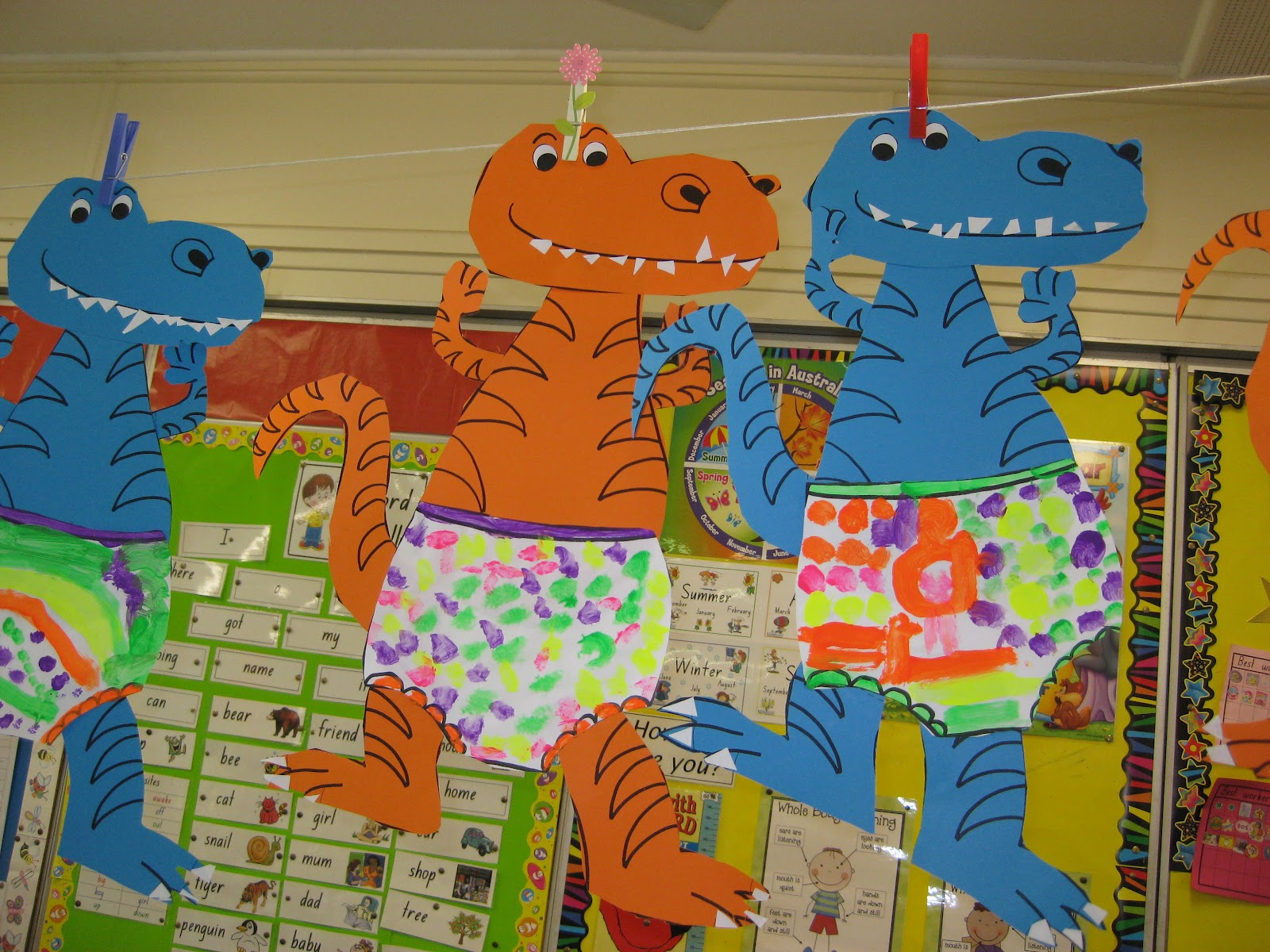 Classroom fun dinosaurs love underpants for Dinosaur crafts for toddlers