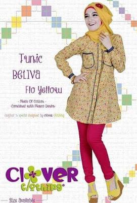 Model baju muslim bahan katun untuk wanita image