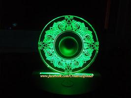 Con Quay Spinner Acrylic Hoa Văn Tròn