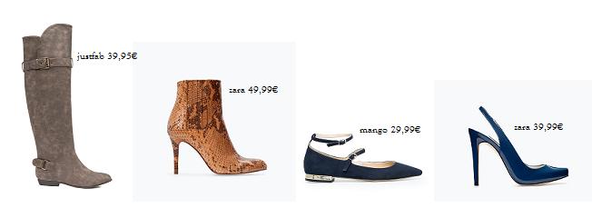 composición zapatos de temporada