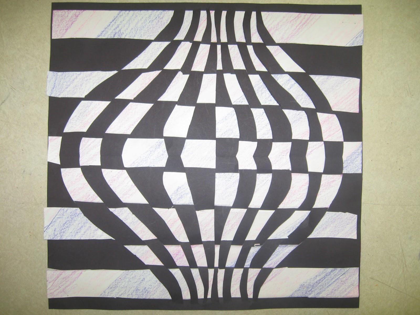 Miss Young\'s Art Room: 6th Grade Op Art Paper Weaving