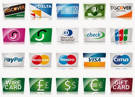 Free Credit Cards and Payment Icon Set