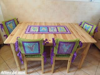 Albero dei cuori runner e coprisedie 1 lavoro - Ikea runner tavolo ...