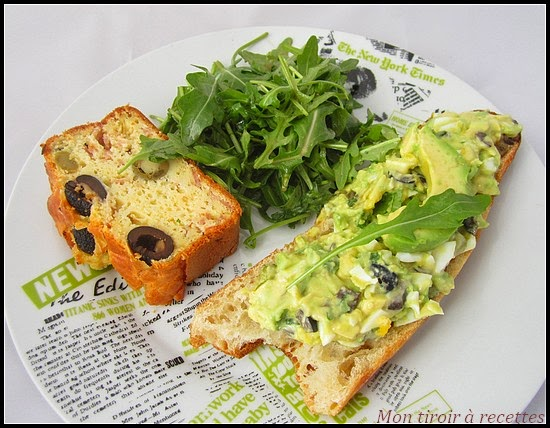 tartine avocat mayonnaise