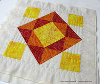 Machine Quilting Block Party with Leah Day using Island Batik fabrics