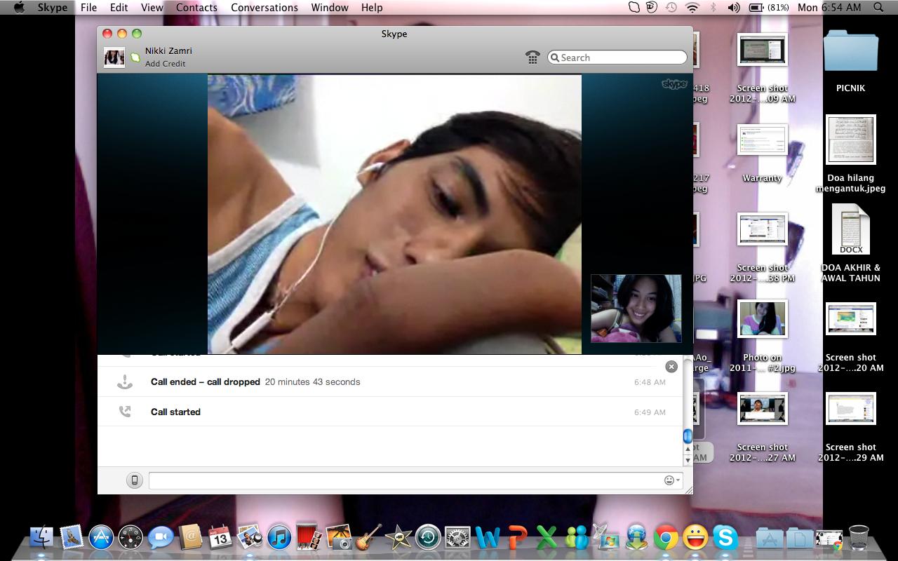 Skype with random girls
