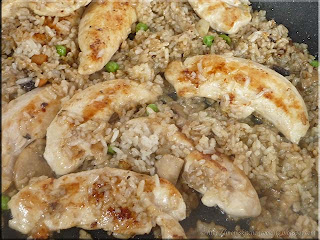 chicken with mushroom fried rice