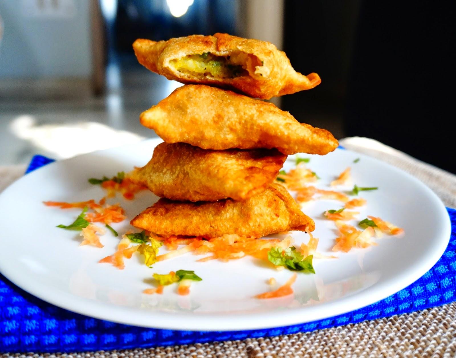 Whole wheat samosa, potato samosa, punjabi samosa, potato patty