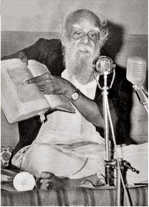 Periyar showing proofs for his thoughts