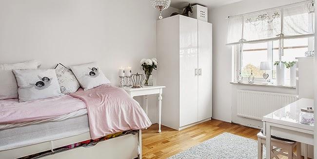 Un piso de estilo n rdico rom ntico en blanco y gris for Decoracion pisos romanticos