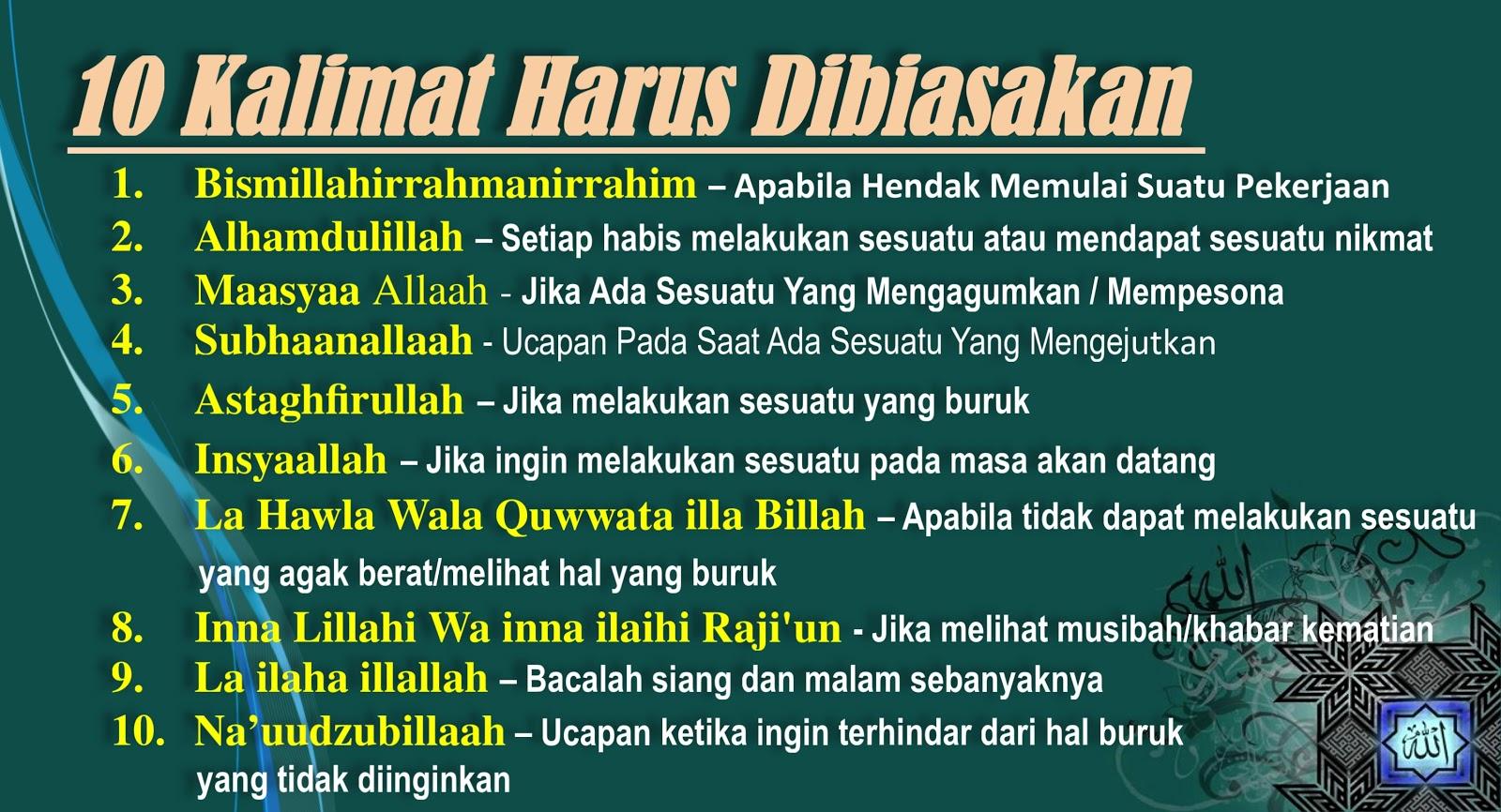 Ucapan Kalimat Thayyibah Seorang Muslim